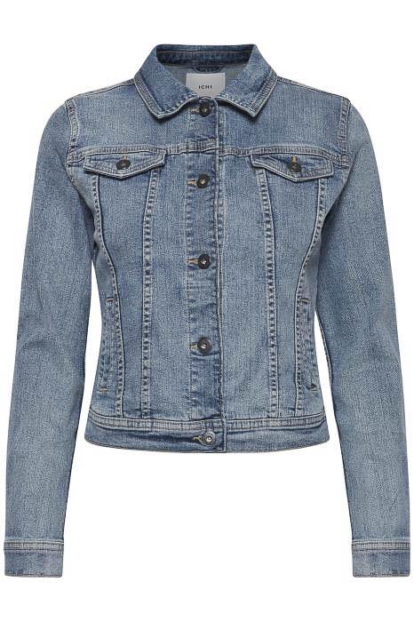 Ichi 20111235 vesten en blazers voor dames in de kleur jeans. maat 42.