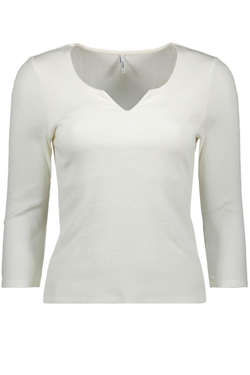 Only 15199554 blouses en shirts voor dames in de kleur wit. maat l.
