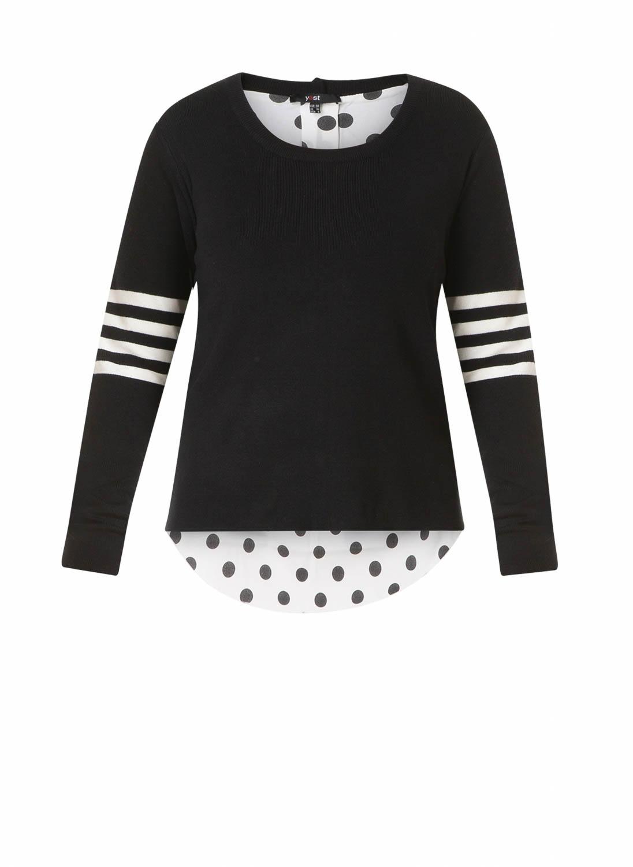 Yest 39229 t shirt en tops voor dames in de kleur zwart. maat 46.